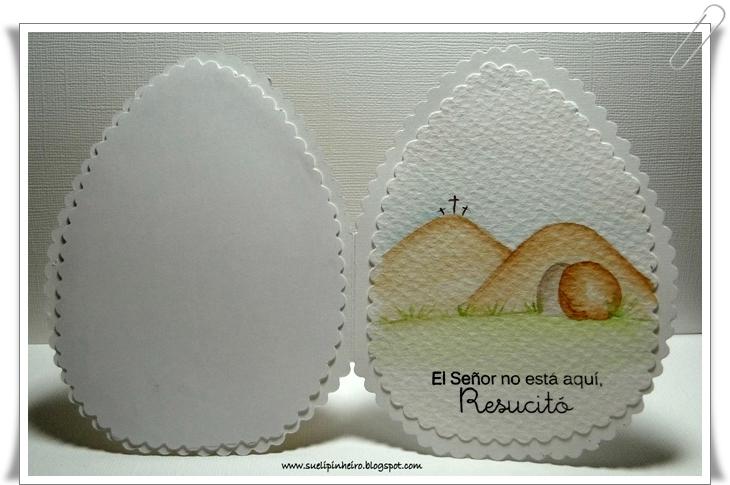Tarjeta Pascua huevo
