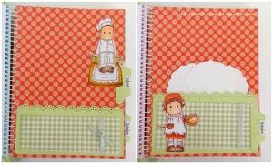 Cuaderno recetario con Magnolias